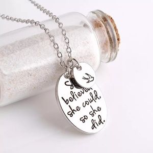 """She Believed She Could, So She Did"" Necklace"